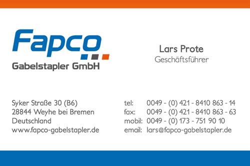 Fapco Germany Visitenkarte Mutu Media